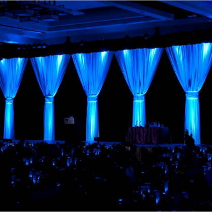 wedding and at dallas once drapes rental black irving pipe drape supplies white party