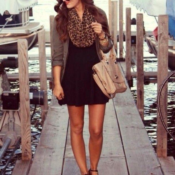 Black dress and cardigan - Fashion dresses