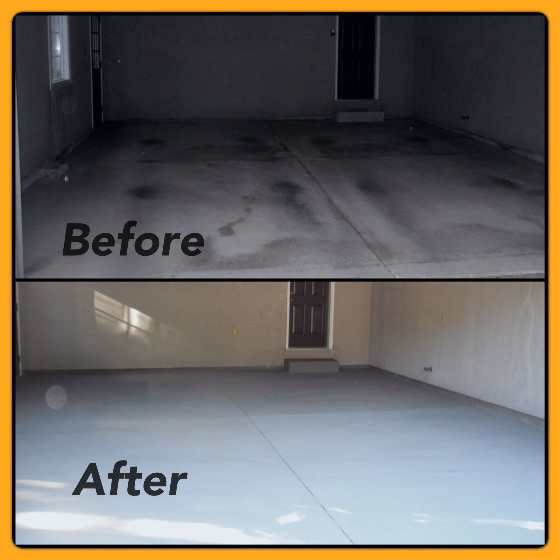 Before And After Garage Remodels: Resurface Garage Floor Before And After