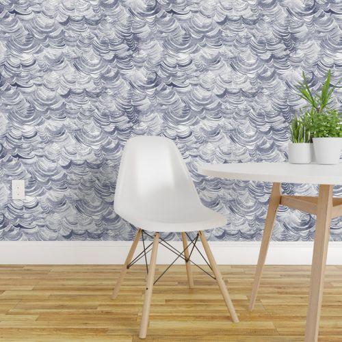 Wild Ocean Spoonflower Waves wallpaper, Decor