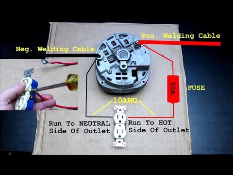 Alternator Demo Wiring Connection To Battery Capacitors Inverter Modification Youtube Alternator Car Alternator Welders