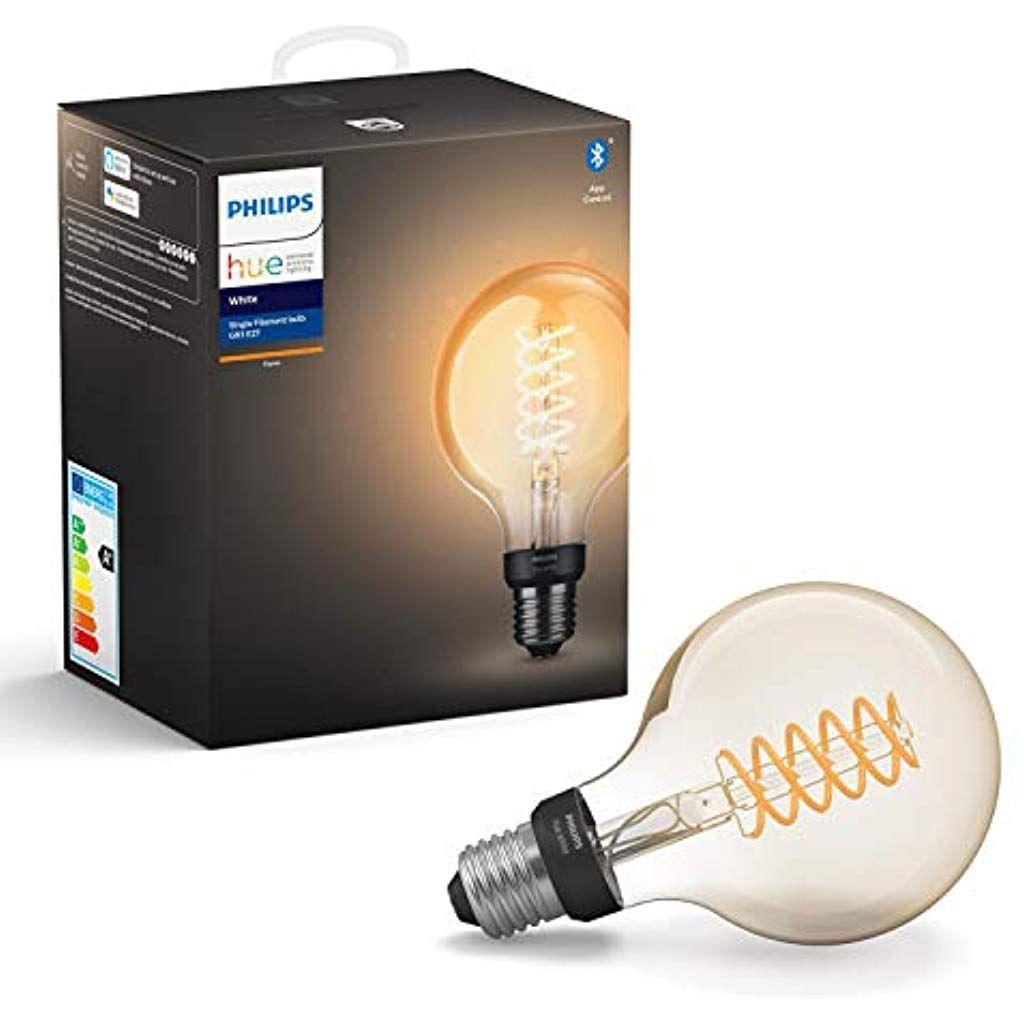 Philips Hue White E27 Filament Globe Led Lampe 7 W Bluetooth Beleuchtung Innenbeleuchtung Einbauleuchten Beleuchtung Innenbe Led Dimmbar Beleuchtung Licht