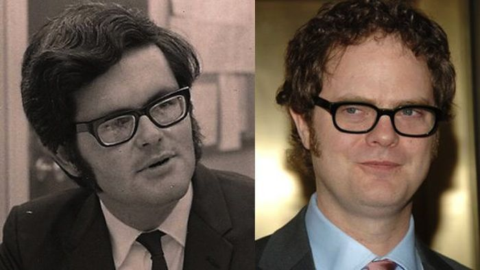 """The Office"" actor Rainn Wilson finally admits he looks like Newt Gingrich. The resemblance of 1970s-era Gingrich to ""Schrute"" is uncanny."