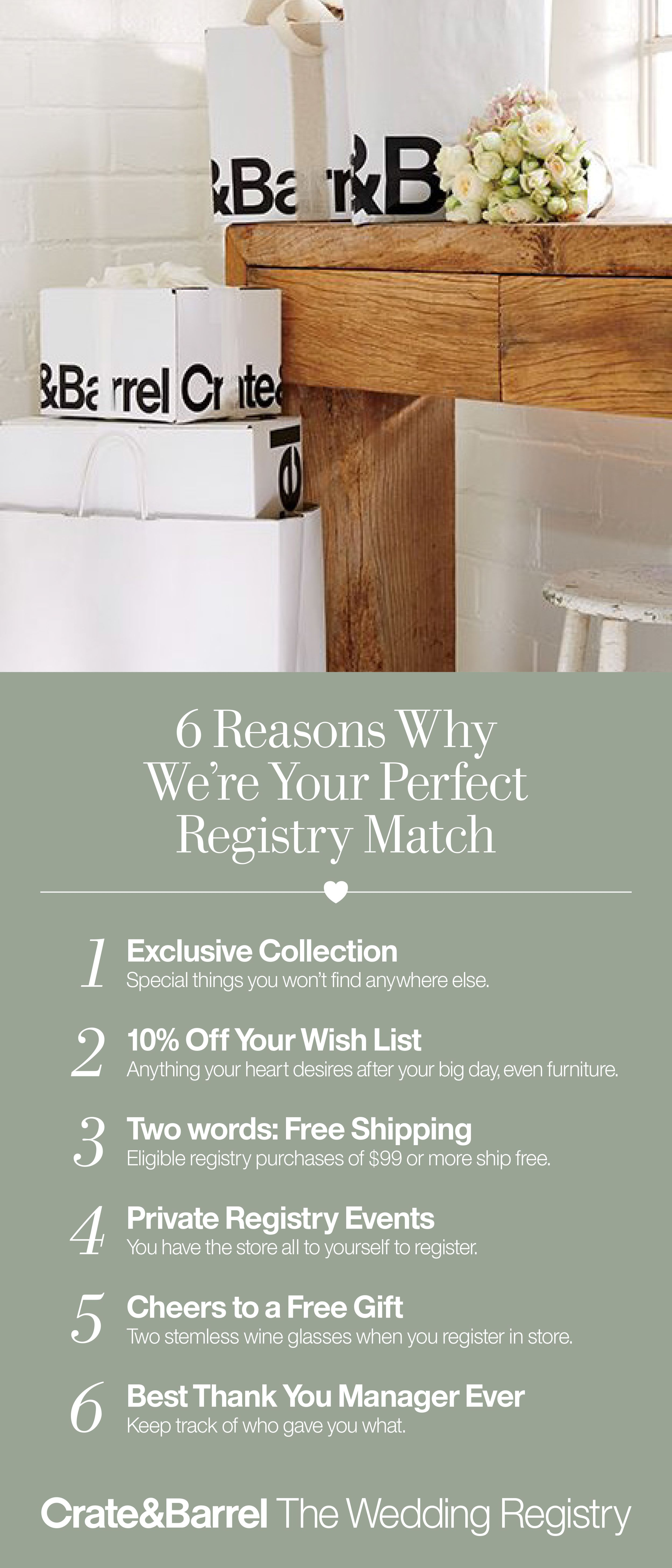 Wedding Registry And Gifts Wedding Sweepstakes Bridal Bands Crate And Barrel Registry