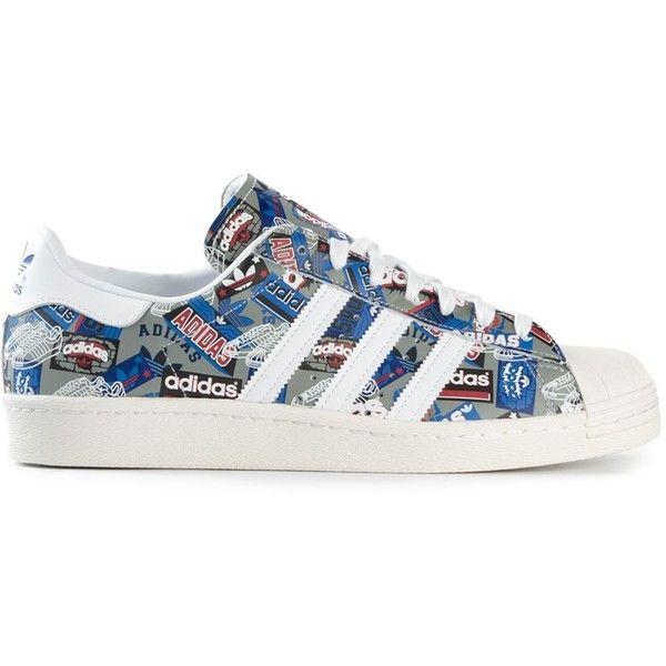 Adidas Superstar Multicolor Stripe Sneaker (€69) ❤ liked on