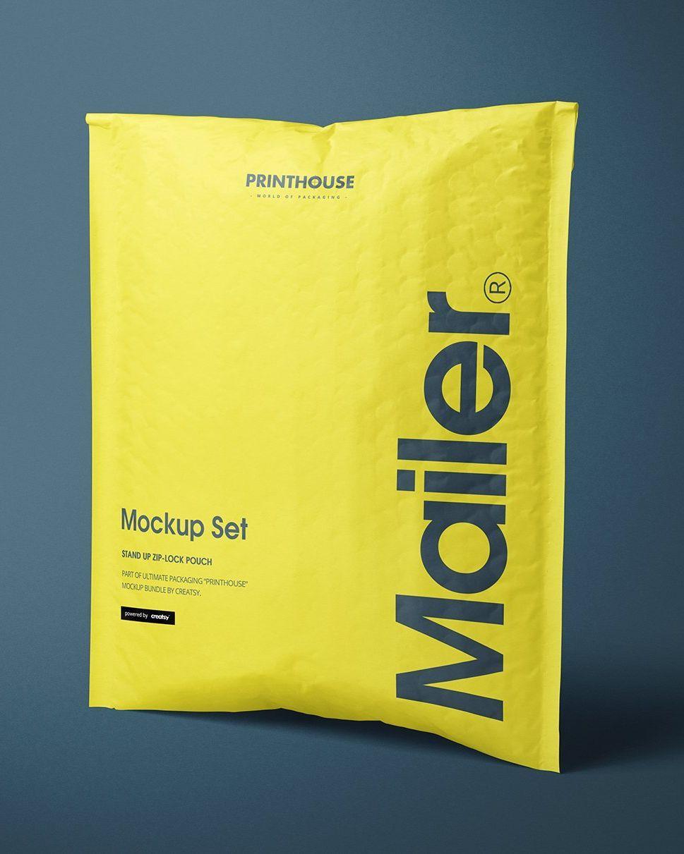 Download Soft Bubble Mailer Mockup Set Plastic Packaging Design Ecommerce Packaging Branding Design Packaging