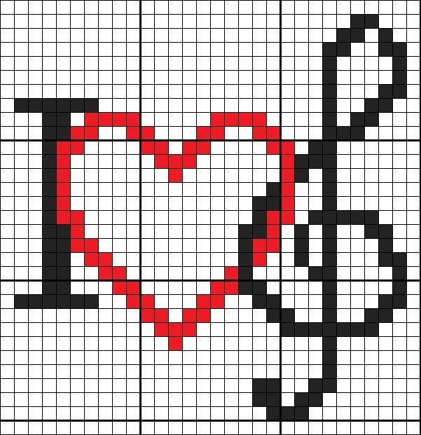 #Pixel #Hama #Beads #Pyssla #PuntoCroce #CrossStitch #Music #Note #Heart #Love #Cuore #Chiave #Chiavediviolino #ILoveMusic #Amore