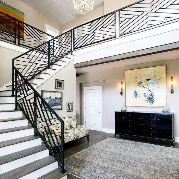 Top 70 Best Stair Railing Ideas - Indoor Staircase Designs ...