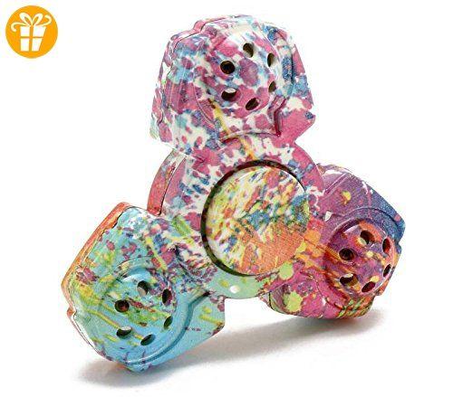 EDC Camouflage Hand Fidget Tri-Spinner Finger Spinner Fokus reduzieren Stress Tool - Fidget spinner (*Partner-Link)