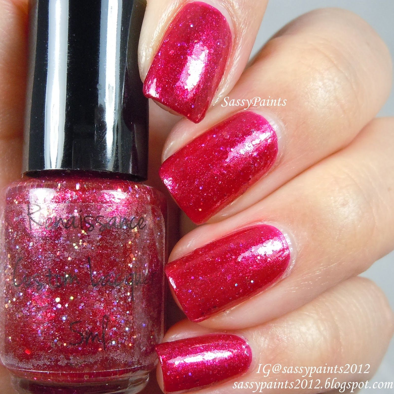 """Sassy Paints: Renaissance Custom Lacquer """"Rosie Osie"""" from the Love...Everyday Collection"""