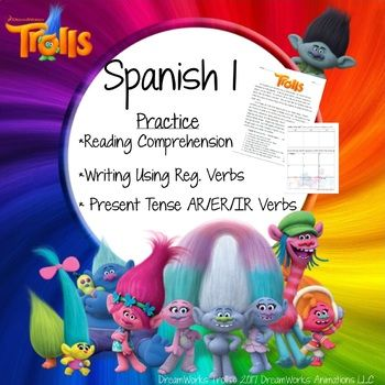 TROLLS - Spanish 1, Realidades Chp  3 | SPANISH Learning