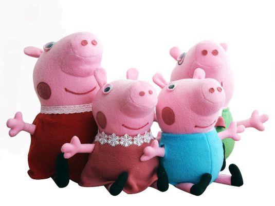 Свинка Пеппа и ее семья в каталоге Игрушки на Uniqhand - ручная работа, розовый, ручная работа handmade, флис