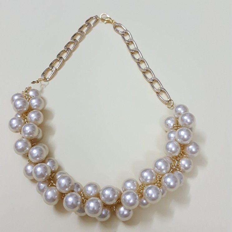 عقد لولو مع خرز ناعم تصميم يدوي Necklace Jewelry Pearl Necklace