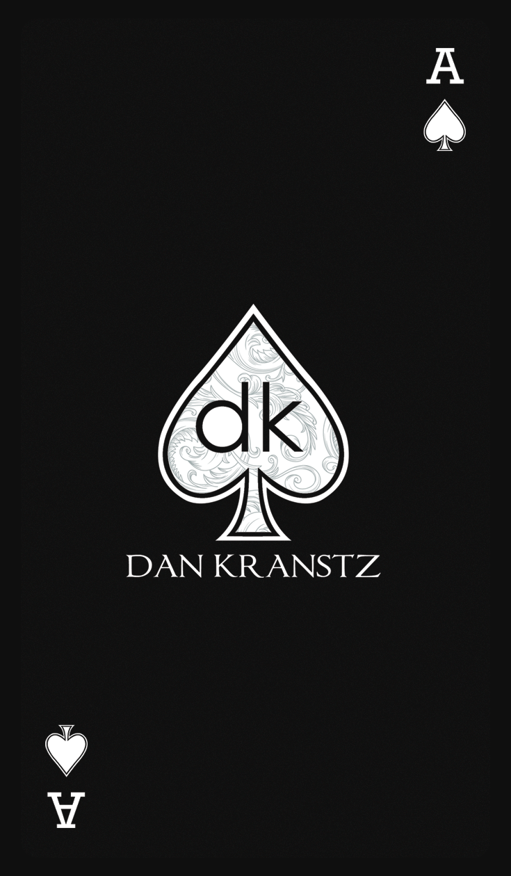 magician front business card design for dan kranstz my