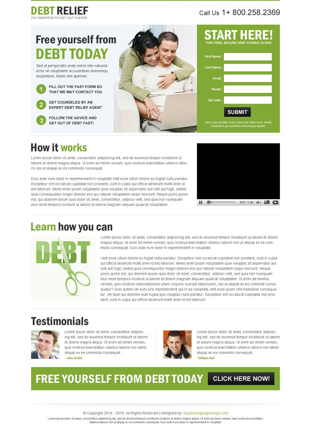 Clean Converting Debt Relief Responsive Lead Capture Landing Page Design Templates Debt Relief Debt Relief Programs Landing Page Design