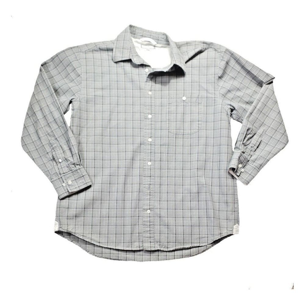 9997e506 Old Navy Button Down Men's Shirt Size XL Gray Check #OldNavy #ButtonFront