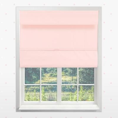 Chicology Rose Pink Cordless Blackout Easy To Install Polyester Roman Shades 33 In W X 64 In L Cordless Roman Shades Roman Shades Bedroom Decor
