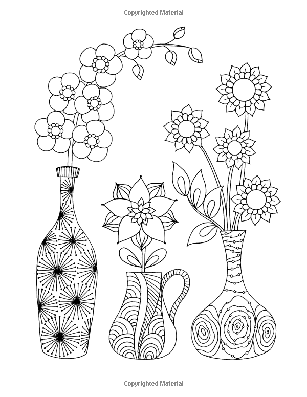 Amazon Com Happy Coloring Easy Flowers Coloring Book For Adults 9781518817557 Happy Coloring Stefania Miro Books Riscos Ideias Novas Ideias