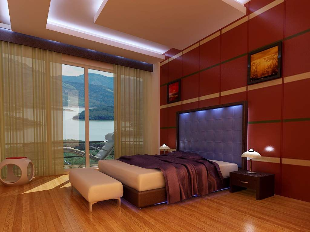 Beautiful 3D Interior Designs With Wood Parquet And Shiny LED Light Using  Imposing Free Online Room Design Software