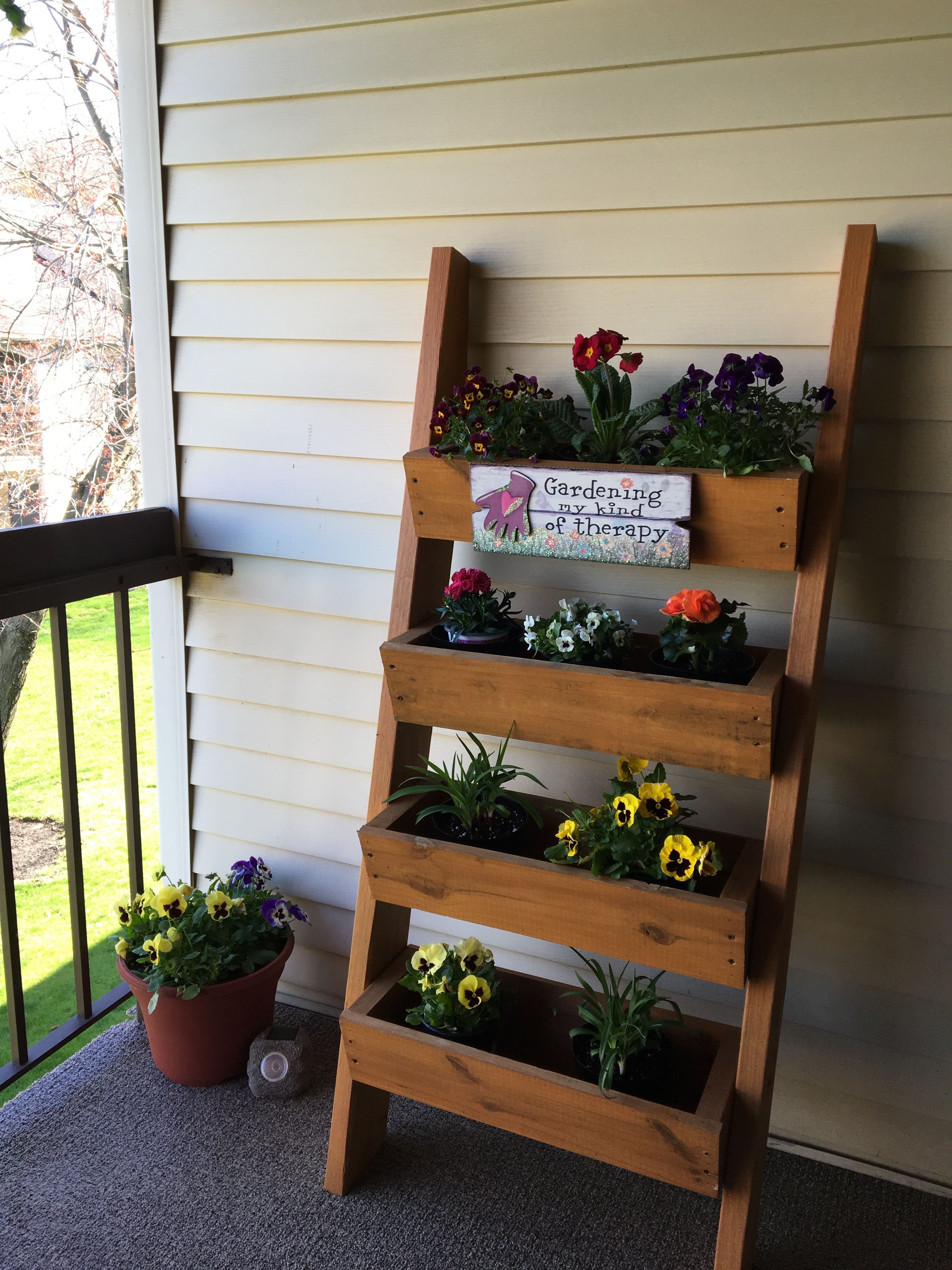 diy plant ladder perfect for small patio spaces condo balcony