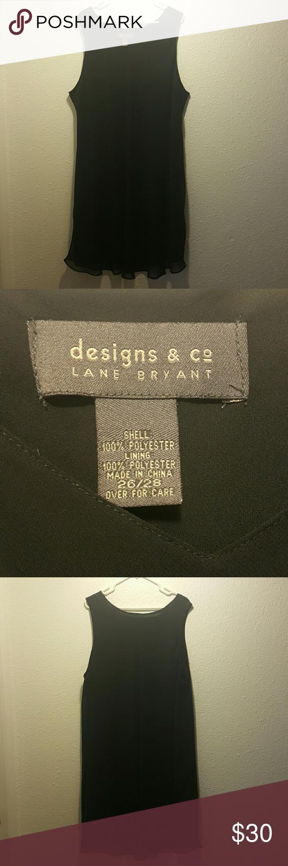 Black Lane Bryant Dress Black sheer sleeveless dress Lane Bryant Dresses Midi