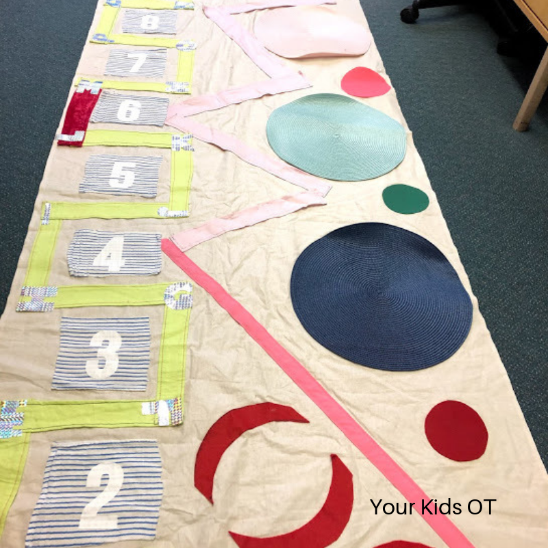 Make your own sensory motor path Your Kids OT Sensory