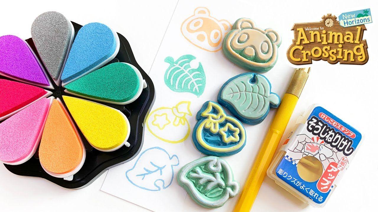 DIY Animal Crossing Eraser Stamps [Patterns Included]
