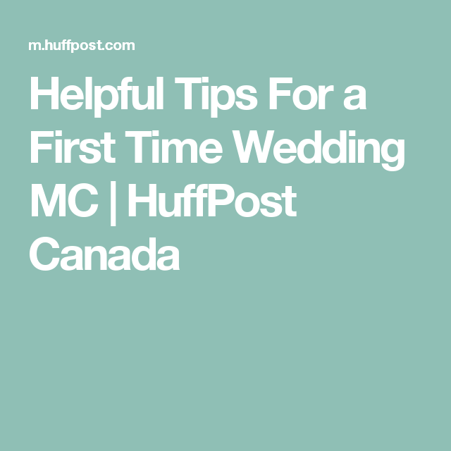 Helpful Tips For A First Time Wedding MC