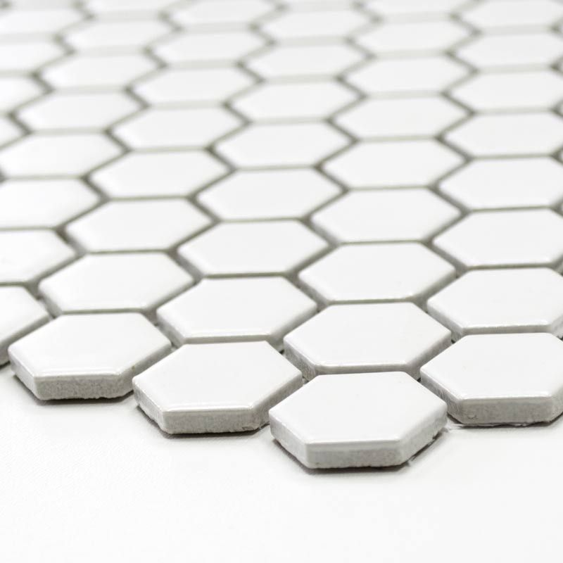 Klassik Hexagon Weiß Matt Mosaikfliesen 2 3 x 2 6 cm