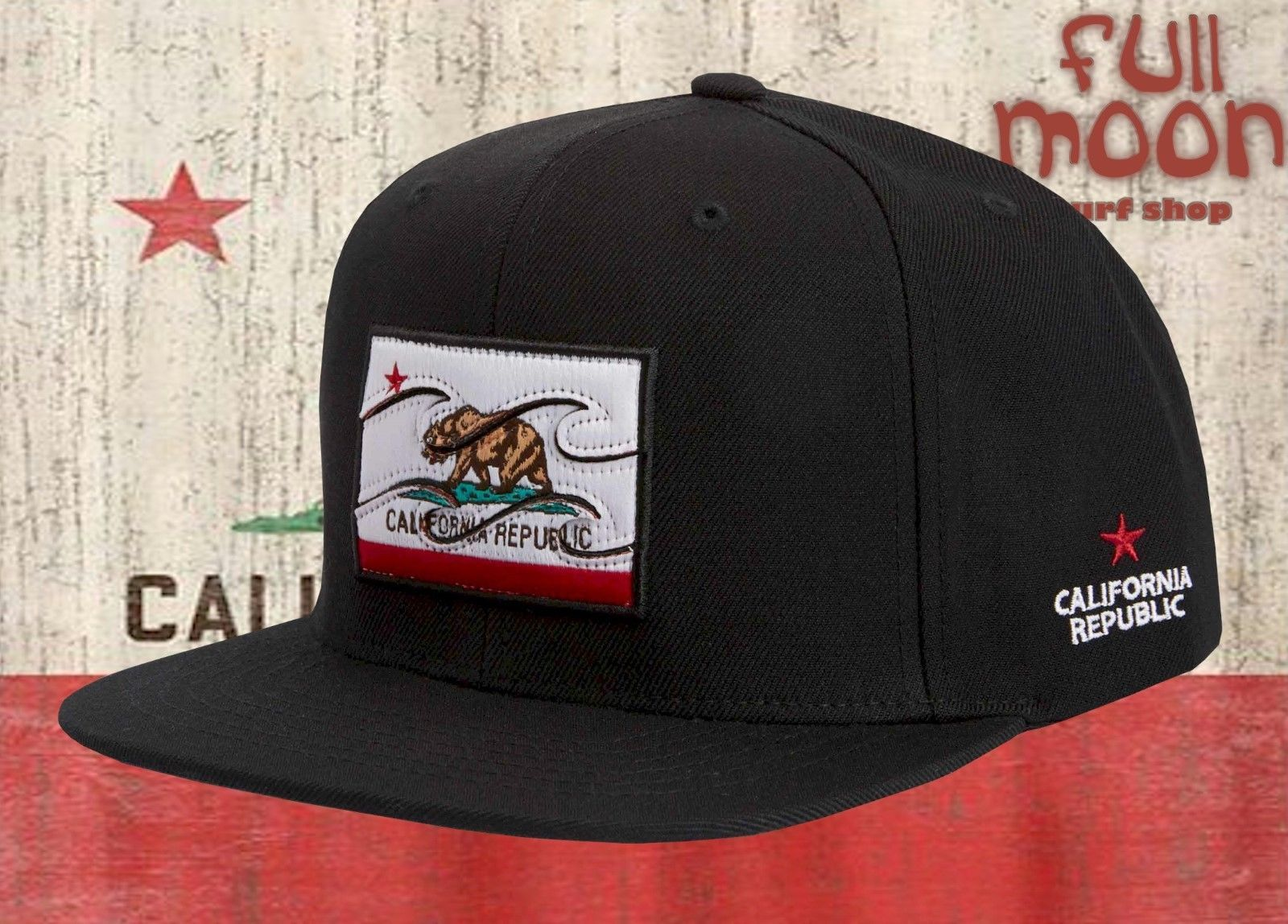 newest 24e85 49640 Billabong Native California Flag State Mens Snapback Cap Hat