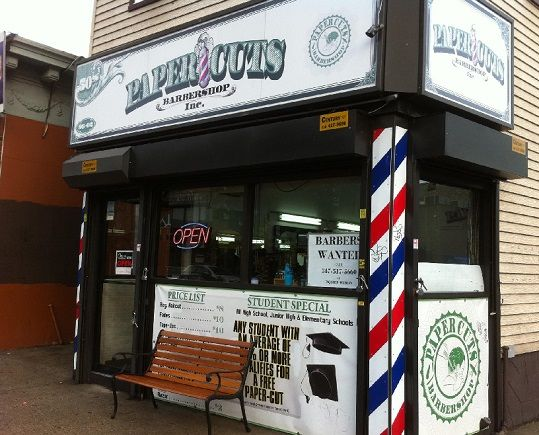 Papercuts Barbershop has the #EdgeYouDeserve!  See their sign? Those with good GPA get free papercuts! woot! PaperCuts BarberShop not only does the BEST haircuts in NYC we also take pride in being the CLEANEST, SANITIZED, DISEASE FREE, PROFANITY FREE, and most importantly DRUG FREE barbershop around.