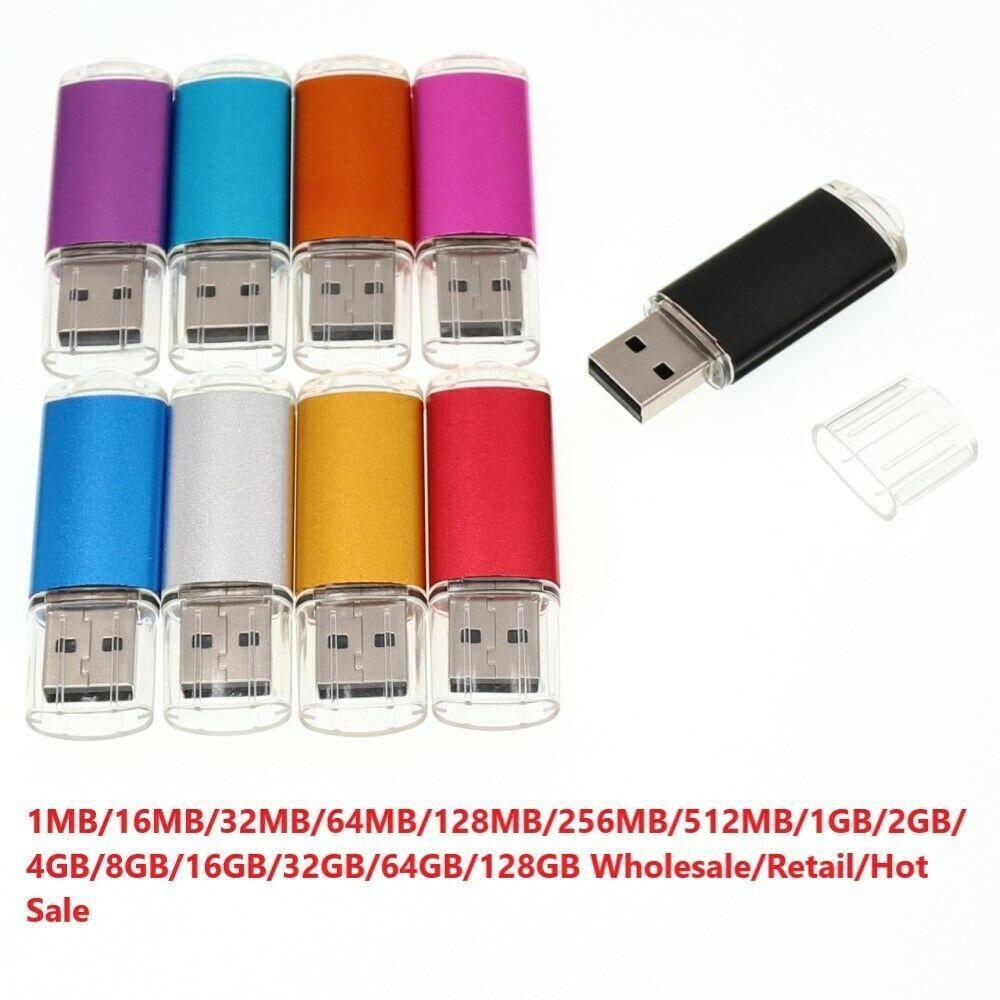 10 Pack 8GB USB Flash Drives Memory Stick Enough Storage U Thumb Disks Pendrives