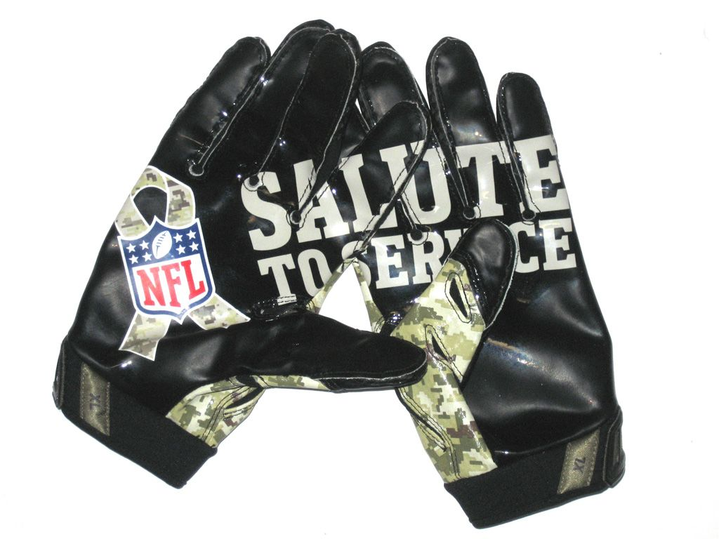 sports shoes 41118 fb8d9 Darrel Young Washington Redskins Salute to Service Gloves ...