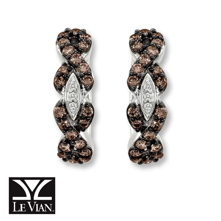 Le Vian LeVian Chocolate Diamonds 7/8 ct tw Earrings 14K Vanilla Gold xl2RyDTgv
