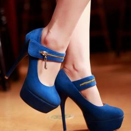 Velcro thin high heels