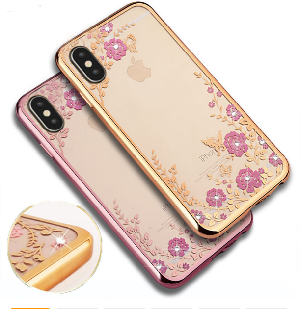 Girls Cheap Iphone X Cases With Bing Tpu Flower Cases For Iphone 10 6 7 8 Plus Back Shell Cover Iphone Leather Case Iphone Iphone Cases