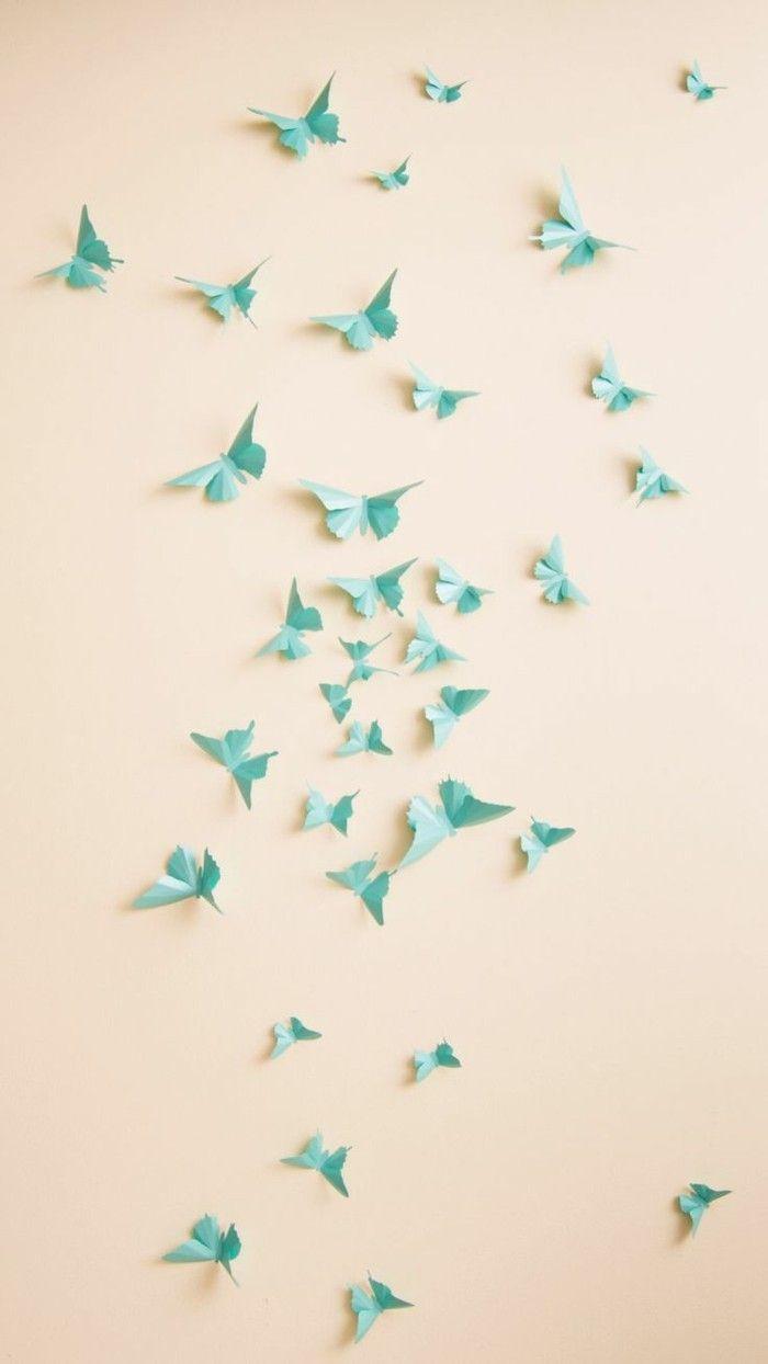 Diy Deko Wohnung Für Den Frühling Schmetterlingen Aus Papier Basteln