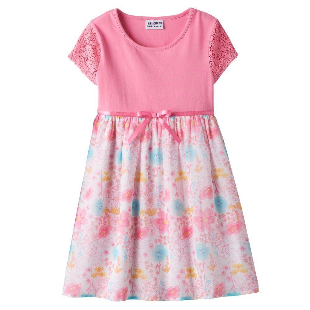 788a9b8ae79 Girls 4-6x Blueberi Boulevard Crochet Chiffon Dress - Brought to you by  Avarsha.com