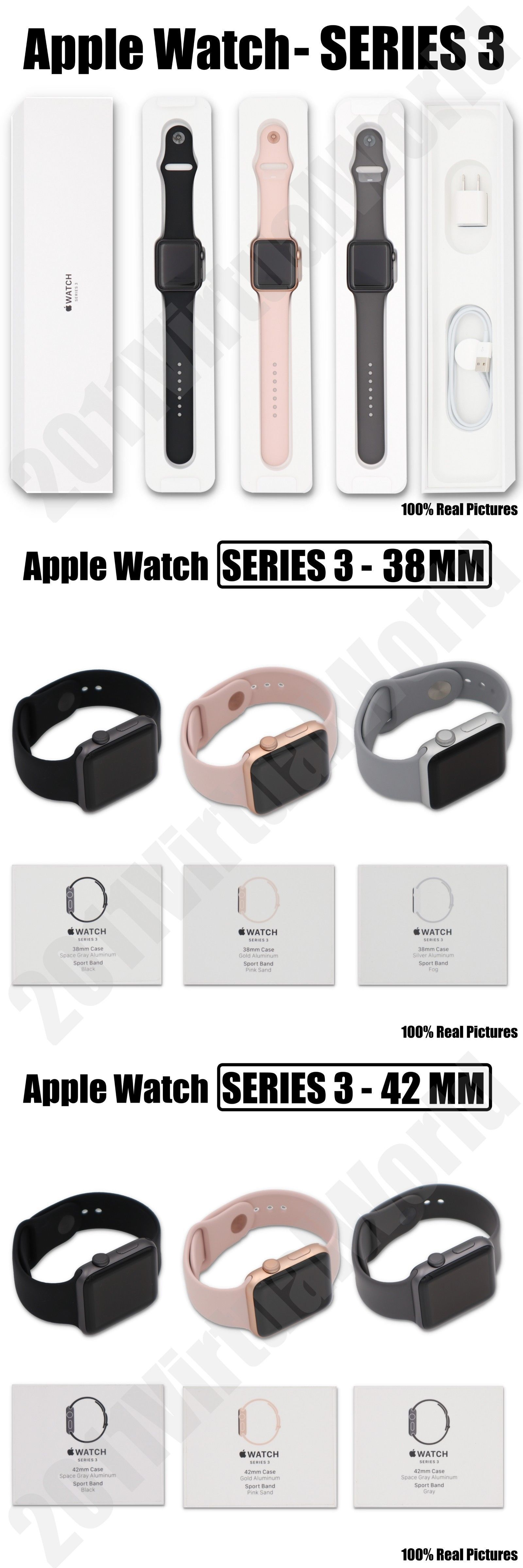 Smart Watches 178893 Apple Watch Series 3 42mm 38mm Gps Space Gray