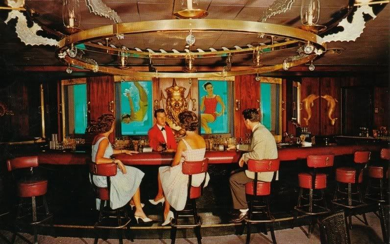 The Jules Verne Room at the Marlin Bay Hotel in Ft Lauderdale Famous