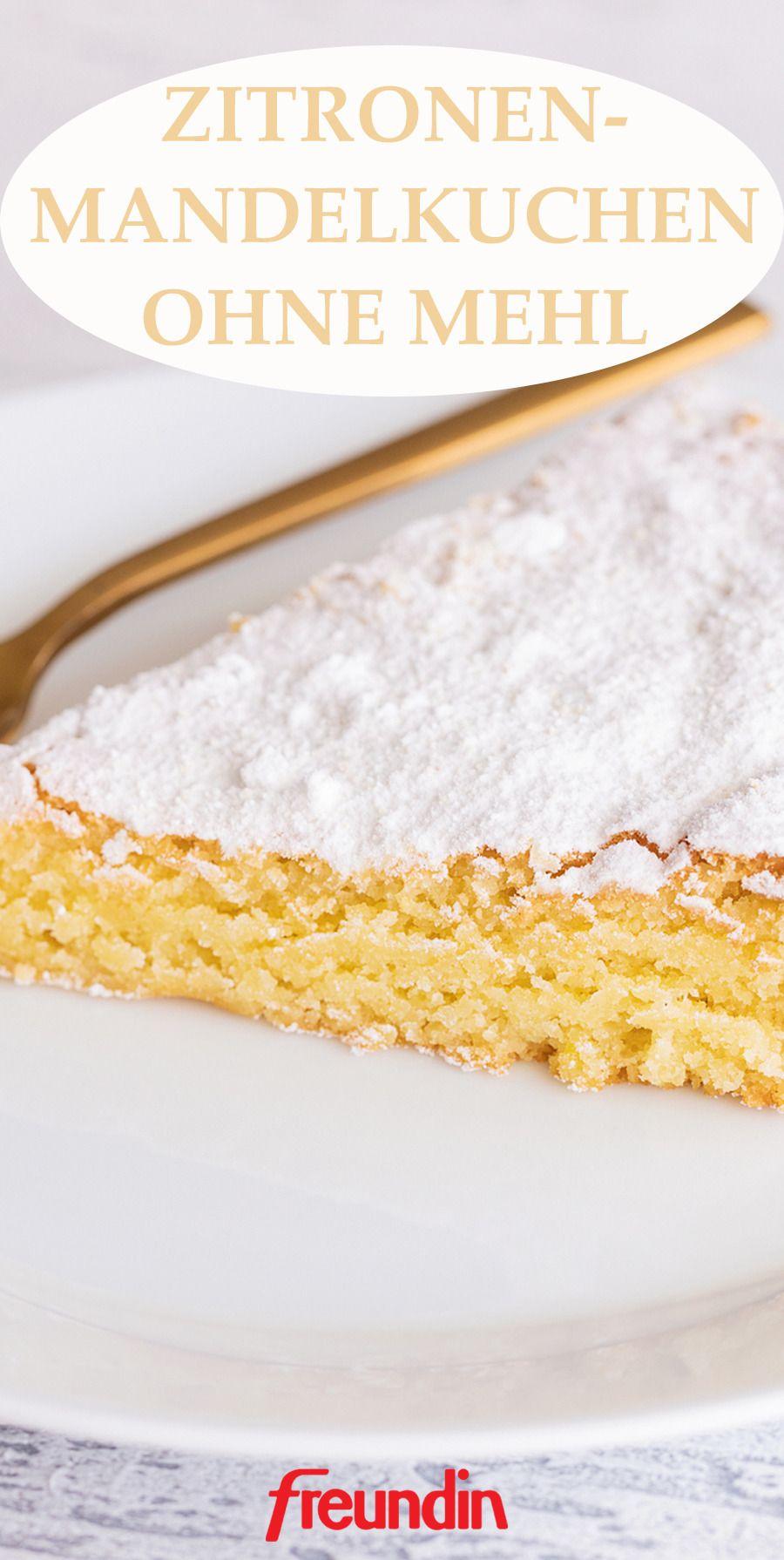 Rezept: Zitronen-Mandelkuchen ohne Mehl | freundin.de