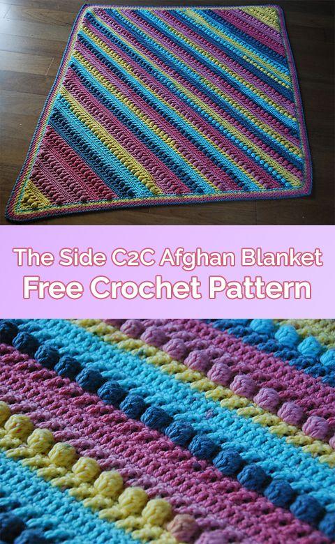 The Side C2C Afghan Blanket Free Crochet Pattern #crochet #crafts ...