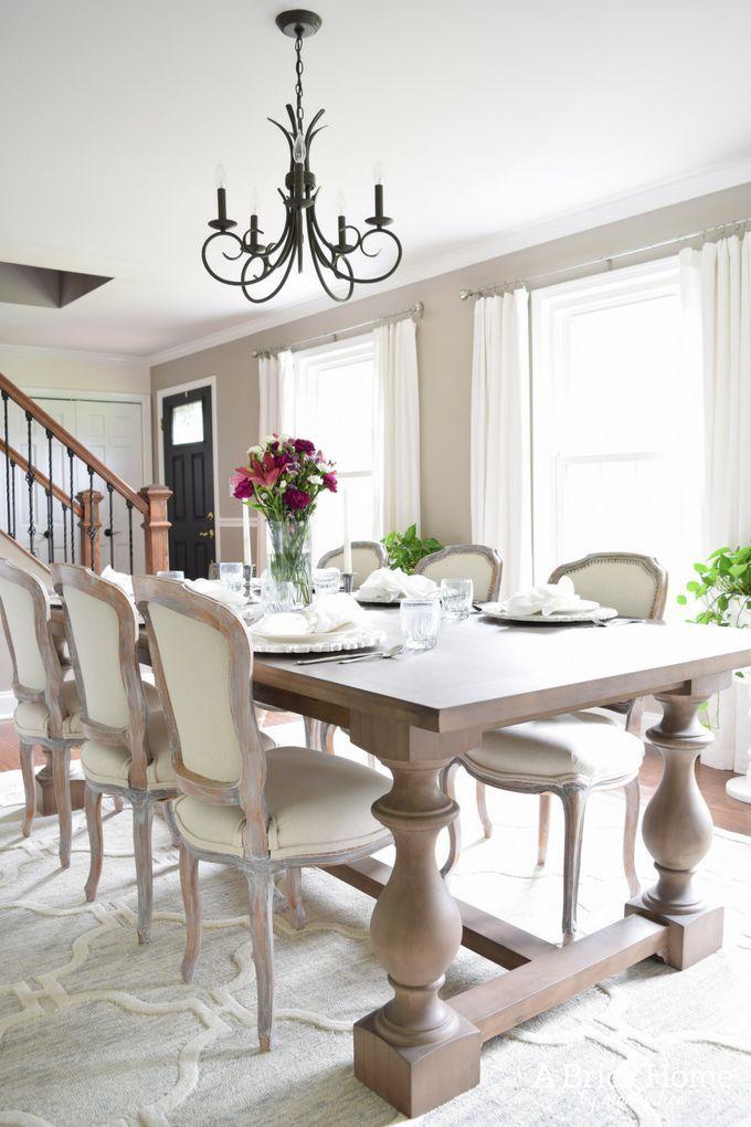 Elegant Dining Room Makeover O A Brick Home