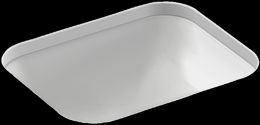 vasque rectangulaire encastrer par dessous 44 2 x 36 2 cm avec trou de trop plein jacob. Black Bedroom Furniture Sets. Home Design Ideas