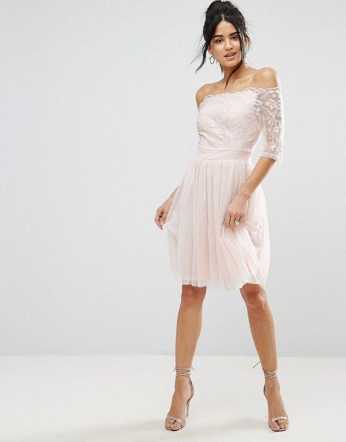 Little Mistress Bardot Embroidery And Sequin Prom Dress  d619eca8e
