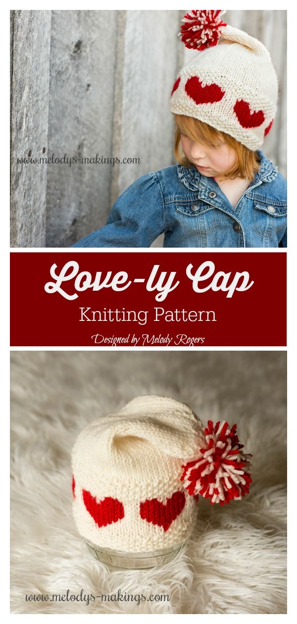 Love-ly Cap Knitting Pattern #knittingideas