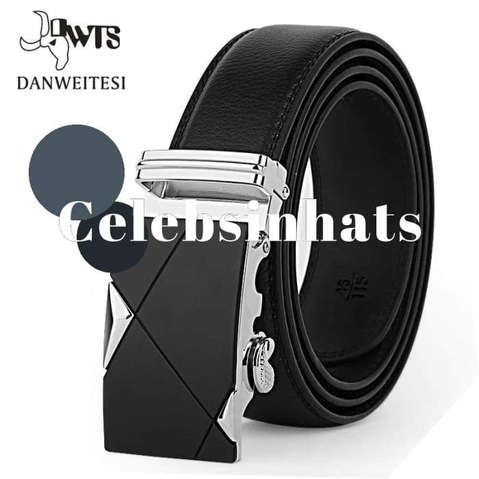 Genuine Leather Strap Belts For Men Top Quality Automatic Buckle black   Presents  Christmas   f29427cf66cb