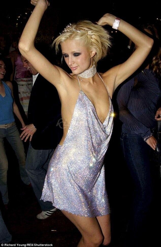 79b7093fdc Kendall Jenner And Paris Hilton 21st Birthday Party Shinning Sequin  Backless Club Dress