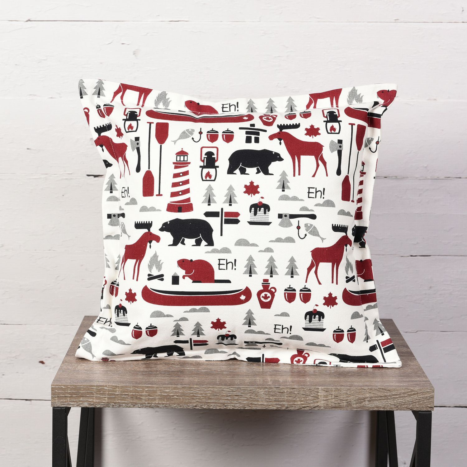 Canadiana Decorative Cushion Canadian Inspired Print