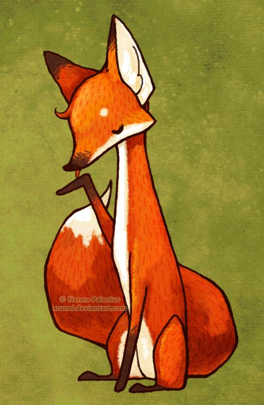 Fox Illustration Erunei Images Pinterest Zorro Y